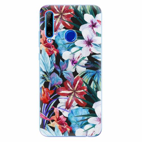 Silikonové pouzdro iSaprio - Tropical Flowers 05 - Huawei Honor 20 Lite