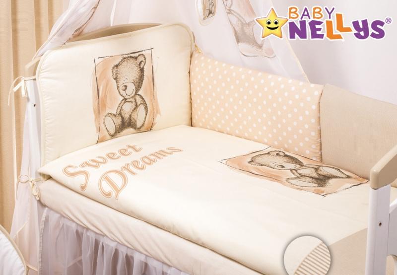 Mantinel 360cm s povlečením Sweet Dreams by Teddy - pískový