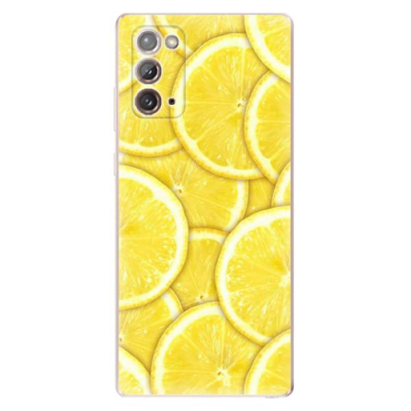 Odolné silikonové pouzdro iSaprio - Yellow - Samsung Galaxy Note 20