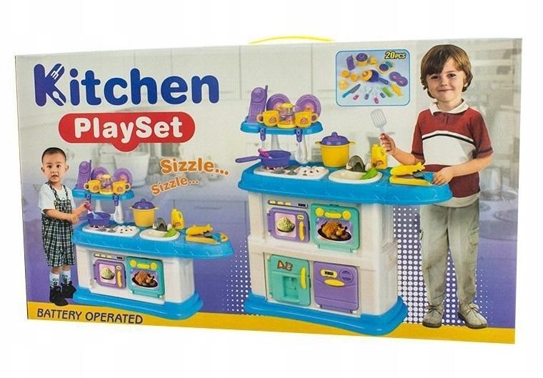 Euro Baby Dětská kuchyňka s příslušenstvím, Rozměry: 68 x 68 cm, věk: 3 +