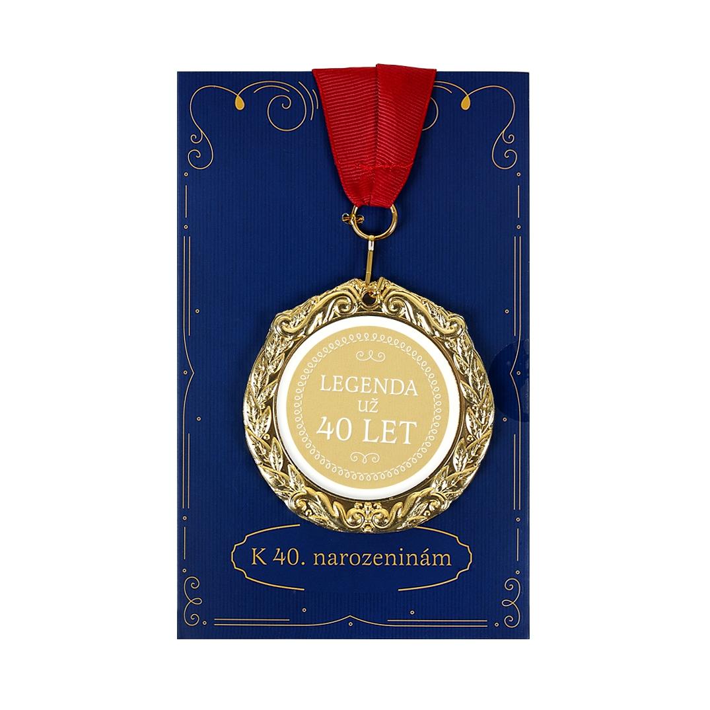 Přání s medailí - 40 let