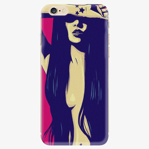 Silikonové pouzdro iSaprio - Cartoon Girl - iPhone 6/6S