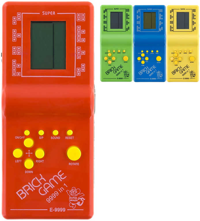 Hra retro postřehová elektronická Kvadrix na baterie Tetris 4 barvy