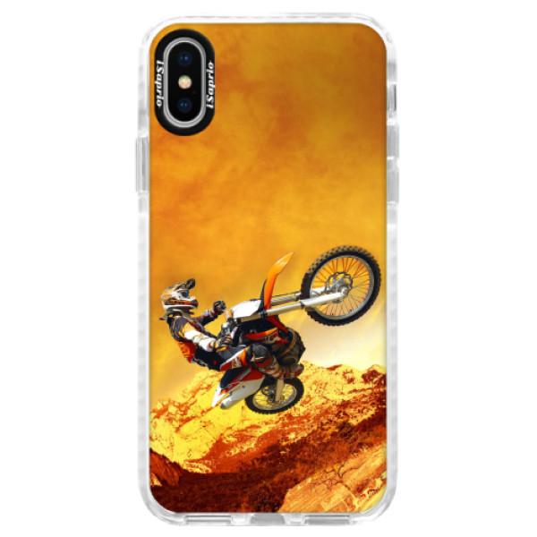 Silikonové pouzdro Bumper iSaprio - Motocross - iPhone X