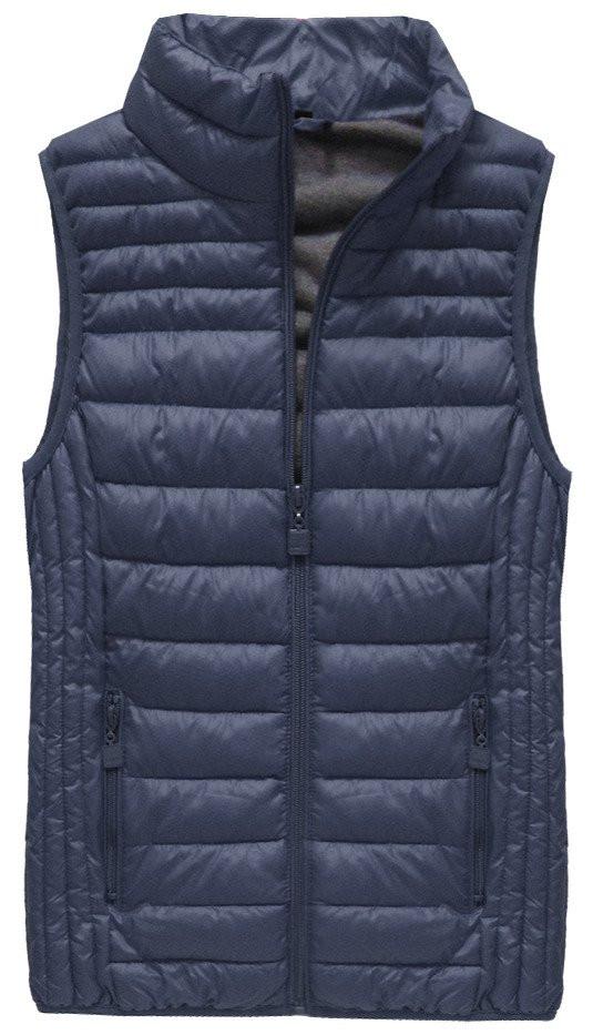 Tmavě modrá prošívaná vesta (B2608-30)