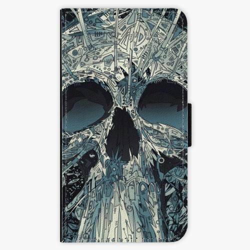 Flipové pouzdro iSaprio - Abstract Skull - Samsung Galaxy J1 2016