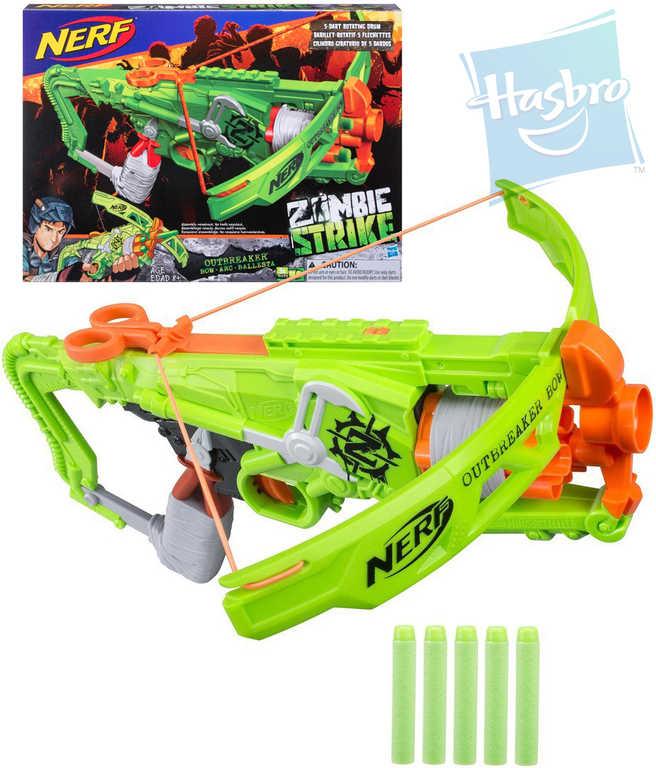 HASBRO NERF Zombie Outbreaker KUŠE plastový set s 5 náboji