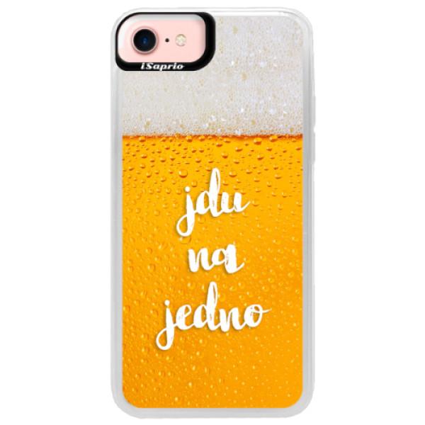 Neonové pouzdro Pink iSaprio - Jdu na jedno - iPhone 7