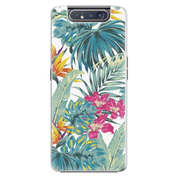 Plastové pouzdro iSaprio - Tropical White 03 - Samsung Galaxy A80