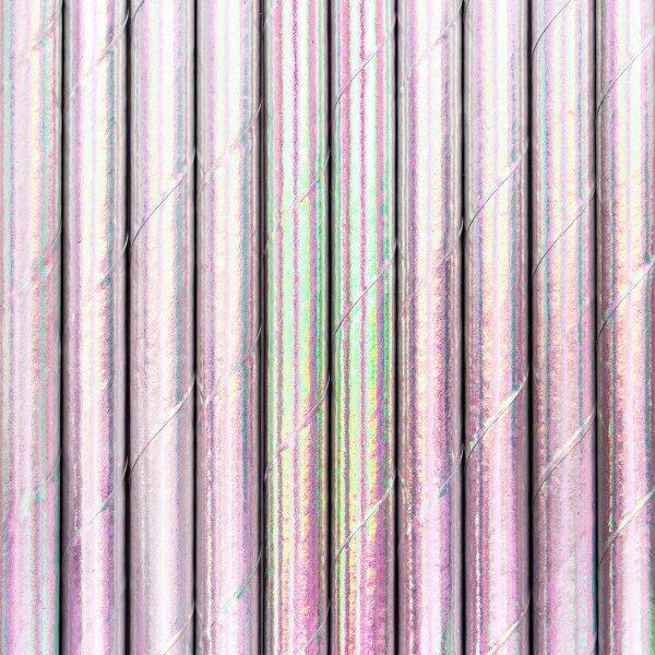 Papírová brčka - hrající duhovými barvami