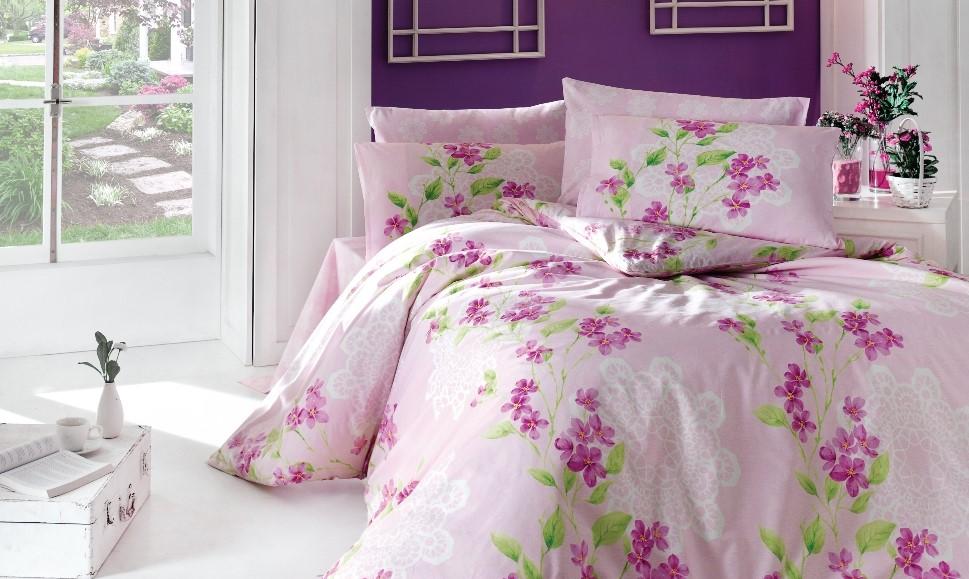 Povlečení francouzské bavlna 240x220,70x90 Laura pink, Výběr zapínání: zipový uzávěr