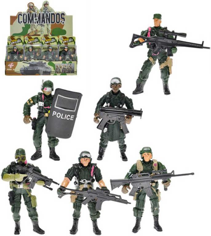 Voják s doplňkem 10cm figurka akční plastová 6 druhů v krabičce