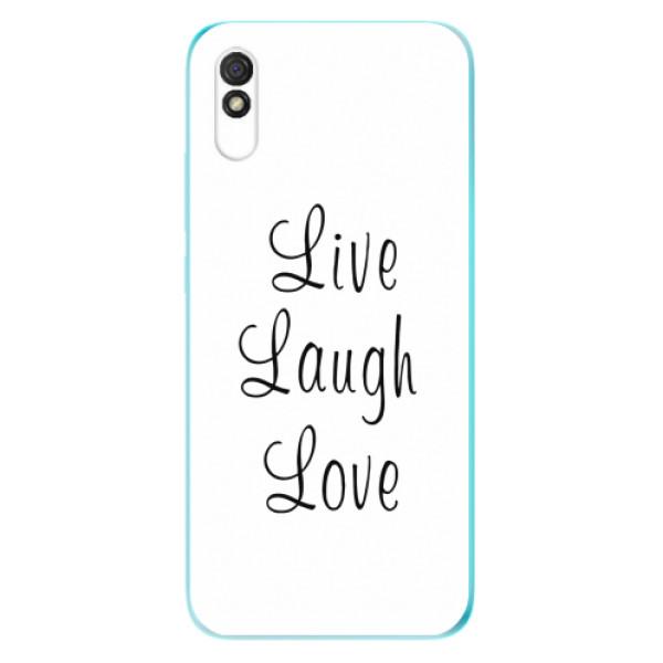 Odolné silikonové pouzdro iSaprio - Live Laugh Love - Xiaomi Redmi 9A