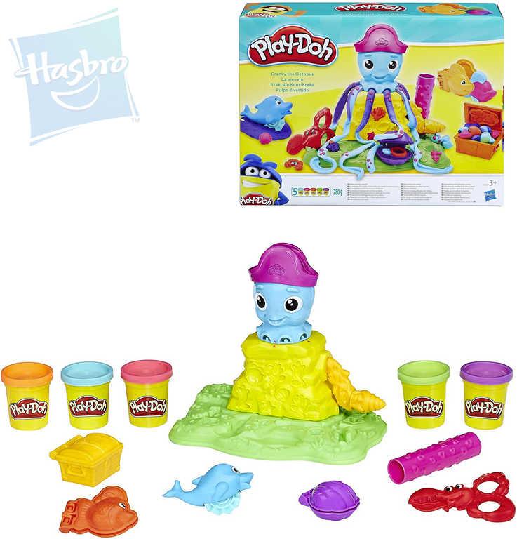 HASBRO PLAY-DOH Potrhlá chobotnice kreativní set s modelínou 280g a nástroji