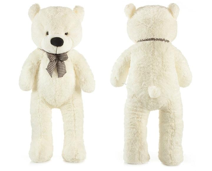 Roztomilý maxi plyšový medvěd Tedík 130cm - smetanový