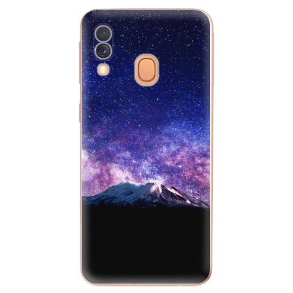 Odolné silikonové pouzdro iSaprio - Milky Way - Samsung Galaxy A40