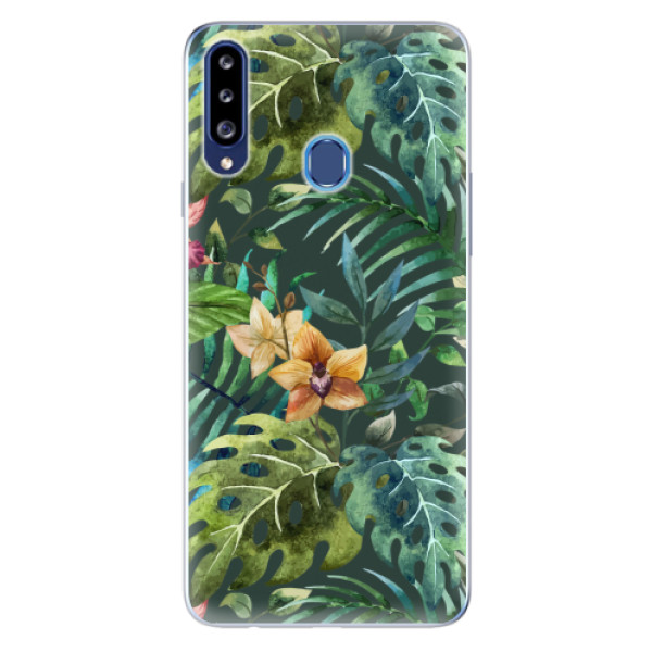 Odolné silikonové pouzdro iSaprio - Tropical Green 02 - Samsung Galaxy A20s