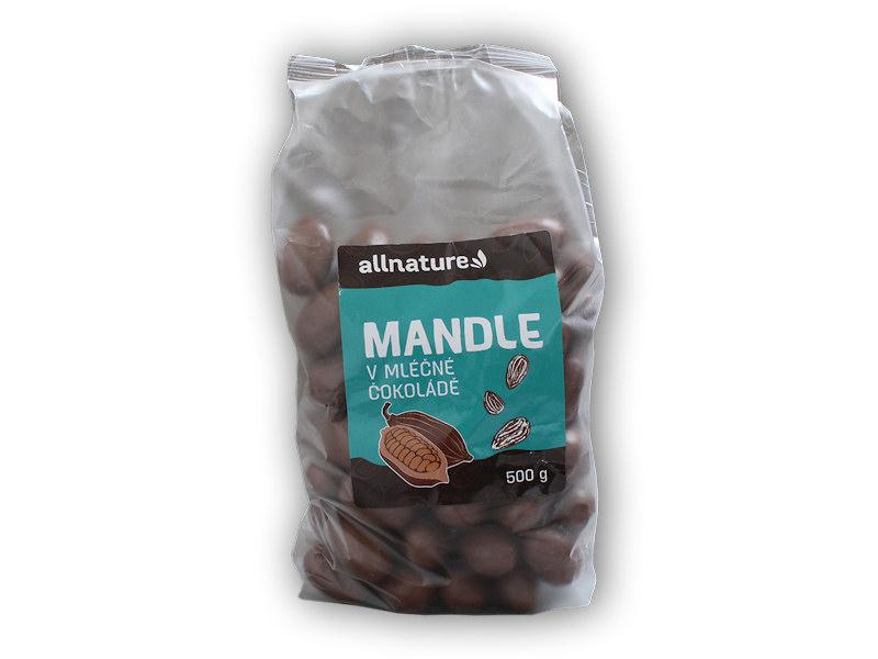Mandle v <b>mléčné</b> čokoládě 500g