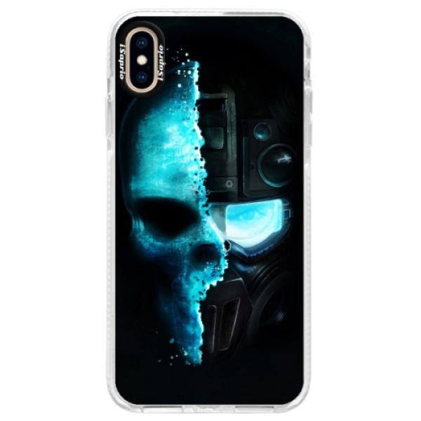 Silikonové pouzdro Bumper iSaprio - Roboskull - iPhone XS Max