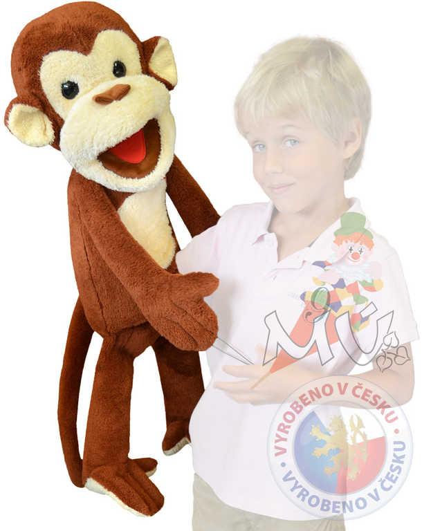 MORAVSKÁ ÚSTŘEDNA PLYŠ Maňásek Opice 80cm na ruku *PLYŠOVÉ HRAČKY*