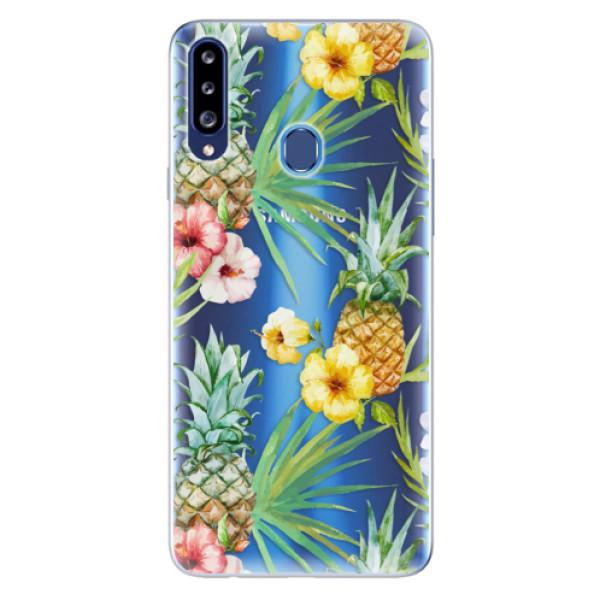 Odolné silikonové pouzdro iSaprio - Pineapple Pattern 02 - Samsung Galaxy A20s