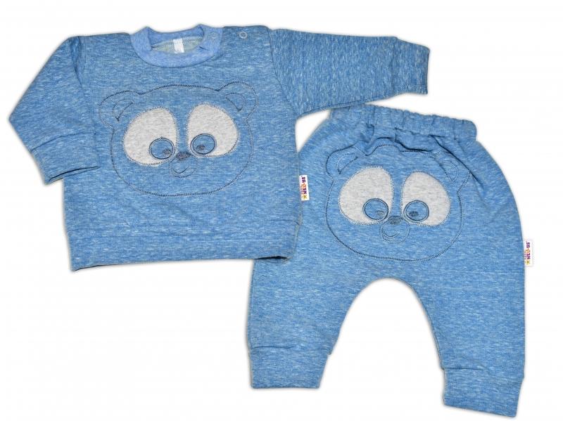 Tepláková souprava Baby Nellys - Medvídek - modrý