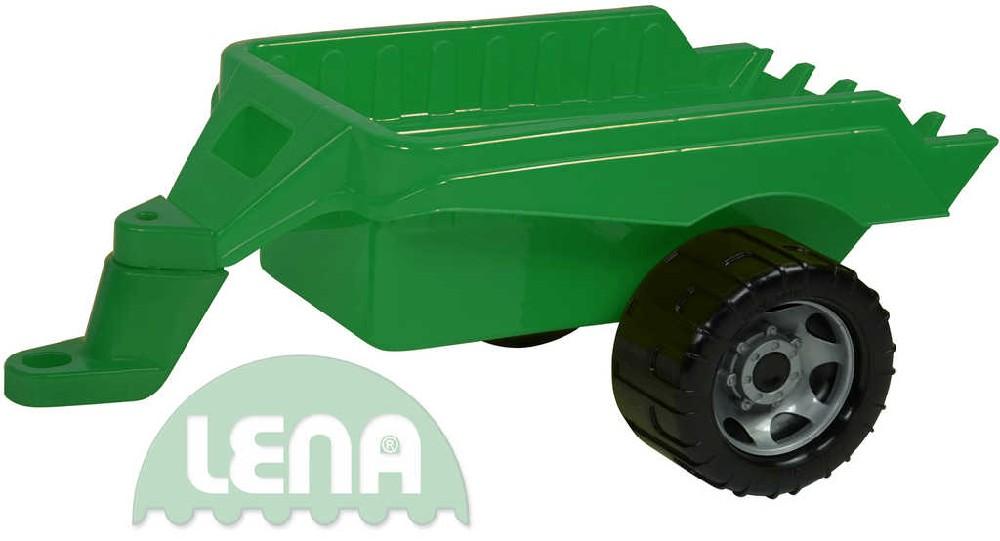 LENA Přívěs zelený plastová vlečka k maxi autům 50cm