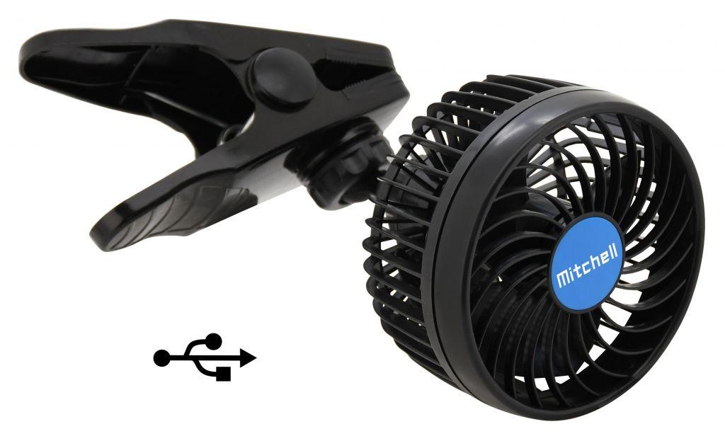 Ventilátor MITCHELL USB - 5V klips