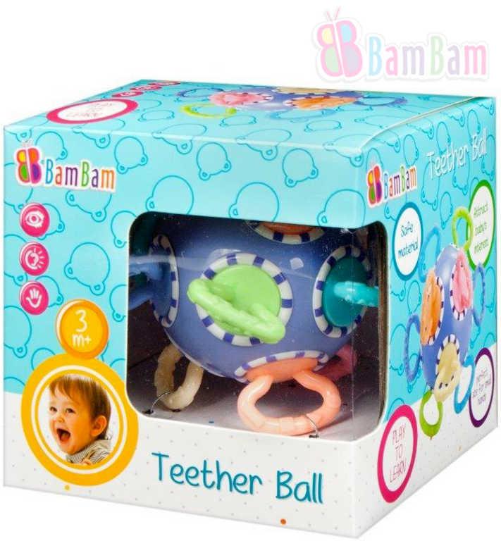 ET BAM BAM Baby kousátko míček v krabici pro miminko