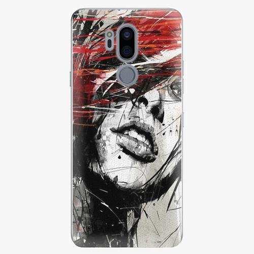Plastový kryt iSaprio - Sketch Face - LG G7
