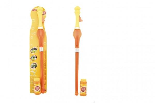 Bublifuk meč plast 60cm s náplní na kartě