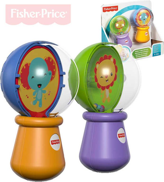 FISHER PRICE Baby Rumba koule set 1 pár chrastítko se zvířátky pro miminko plast