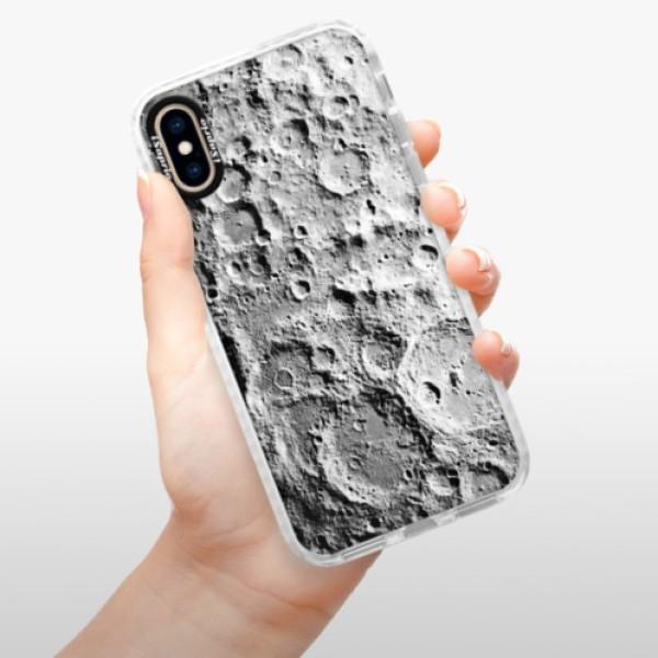 Silikonové pouzdro Bumper iSaprio - Moon Surface - iPhone XS