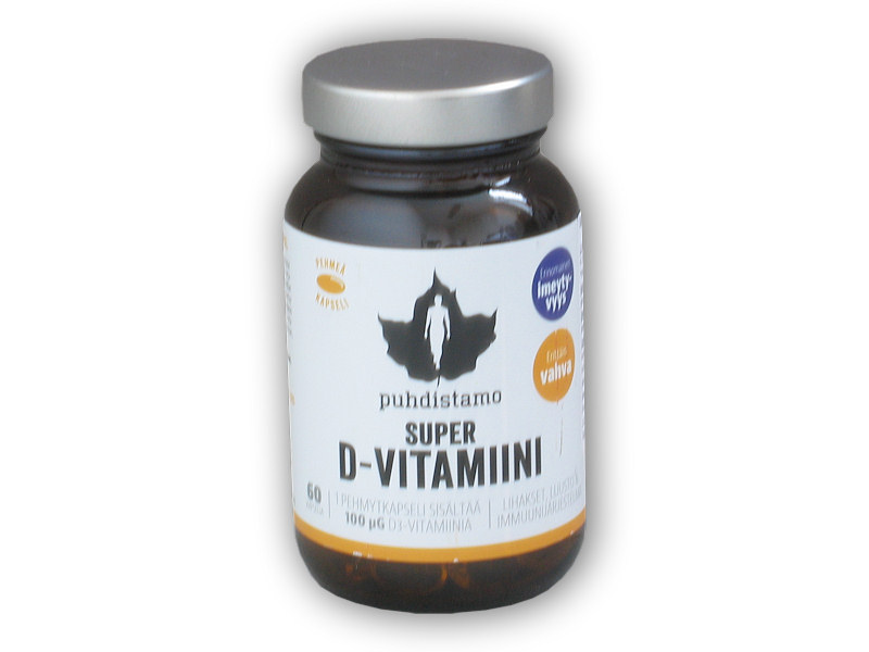 Super D-Vitamiini 4000IU 60 kapslí