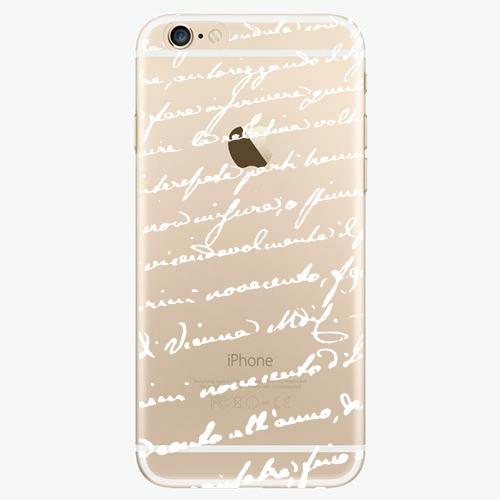 Silikonové pouzdro iSaprio - Handwriting 01 - white - iPhone 6/6S