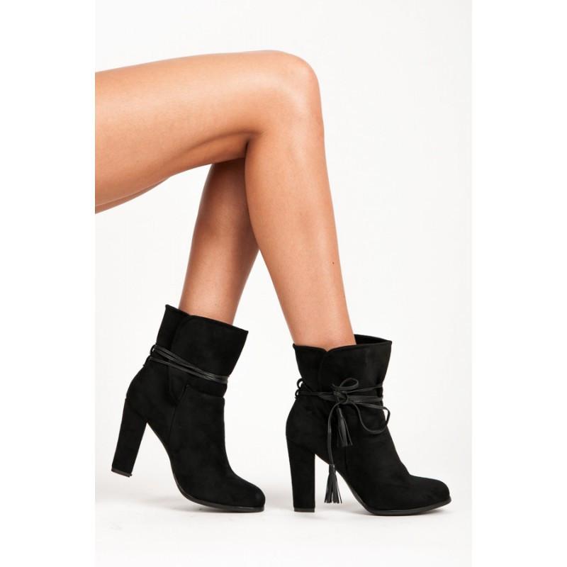 Dámské kotníkové boty 1100-1B - VICES - Černá/36