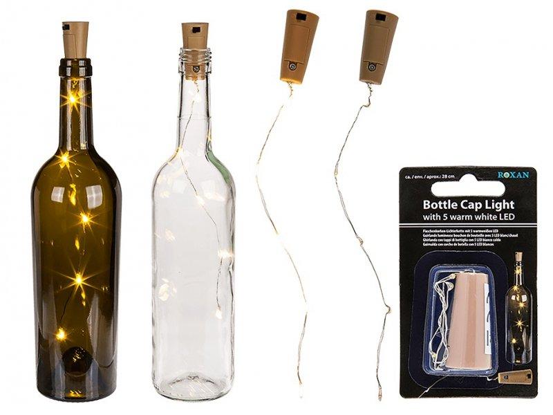LED dekorace do lahve ve tvaru zátky