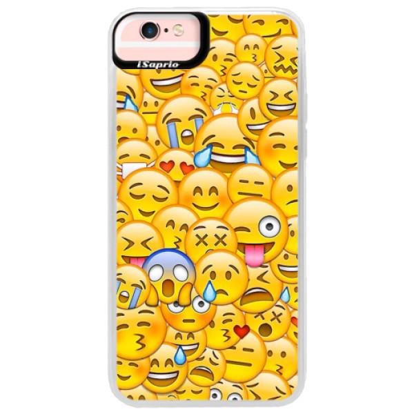 Neonové pouzdro Pink iSaprio - Emoji - iPhone 6 Plus/6S Plus
