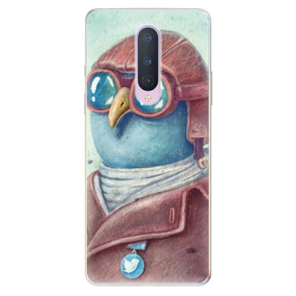 Odolné silikonové pouzdro iSaprio - Pilot twitter - OnePlus 8