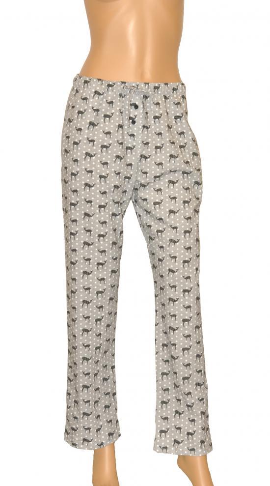 Dámské pyžamové kalhoty 690/09 - Cornette - Černo - bílá/L