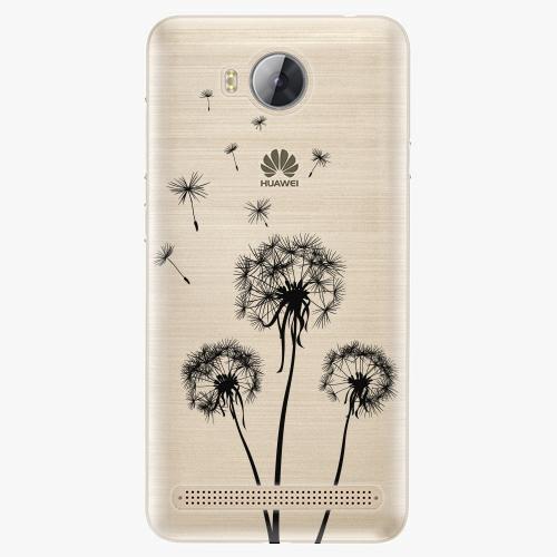 Plastový kryt iSaprio - Three Dandelions - black - Huawei Y3 II
