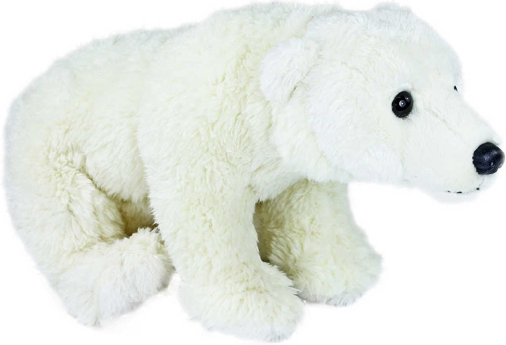 PLYŠ Medvěd lední sedící 24 cm bílý