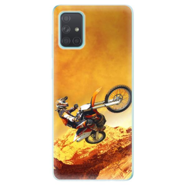 Odolné silikonové pouzdro iSaprio - Motocross - Samsung Galaxy A71
