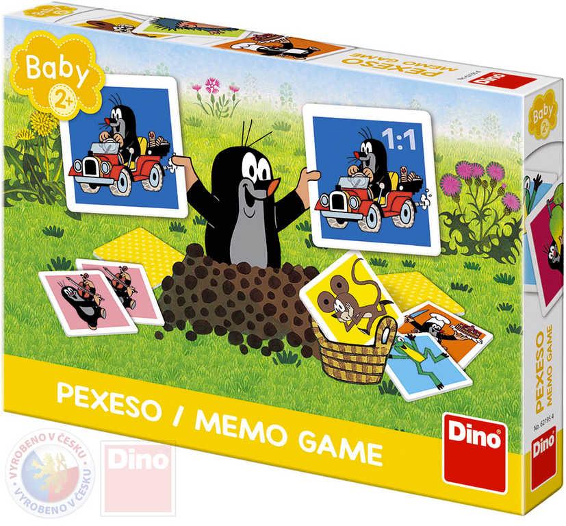 DINO Hra baby pexeso Krtečkovo velké (Krtek) 24 kartiček v krabici