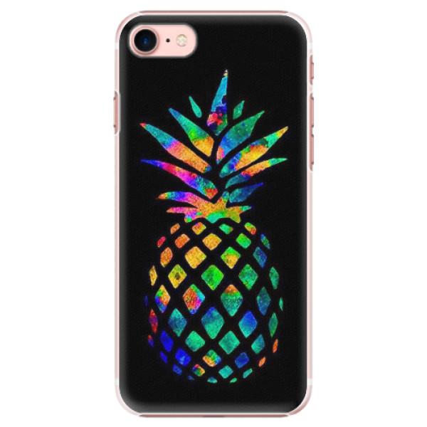 Plastové pouzdro iSaprio - Rainbow Pineapple - iPhone 7
