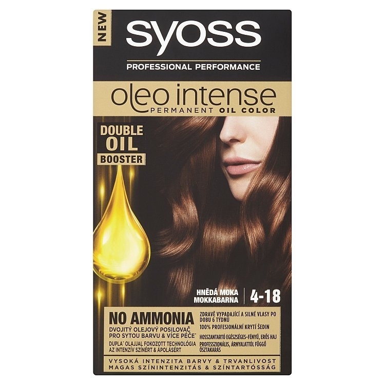 Oleo Intense barva na vlasy Hnědá moka 4-18