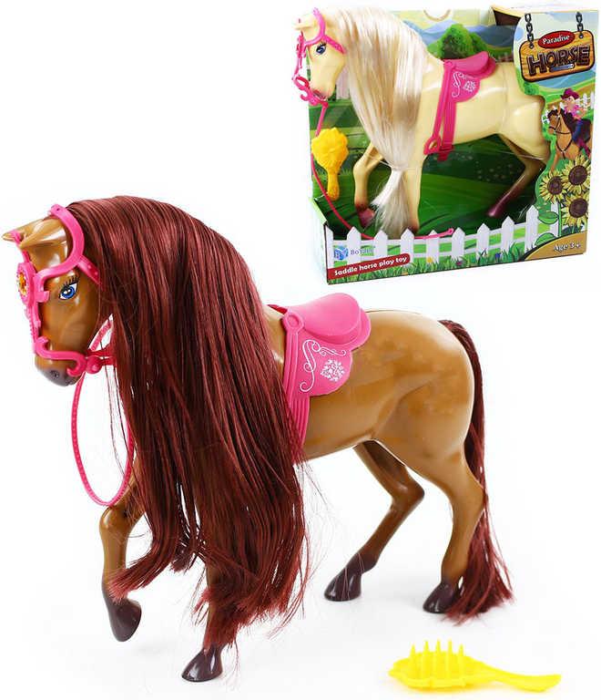 Kůň česací set s hřebenem dlouhá hříva - 2 barvy