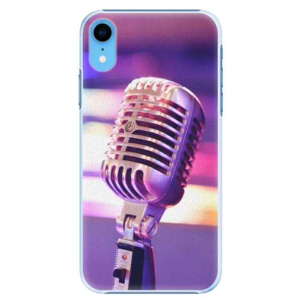 Plastové pouzdro iSaprio - Vintage Microphone - iPhone XR