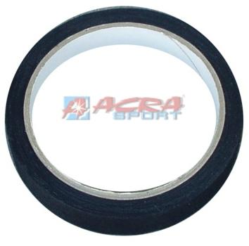 ACRA Sportpáska textilní 2cm x 10m černá barva