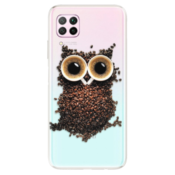 Odolné silikonové pouzdro iSaprio - Owl And Coffee - Huawei P40 Lite